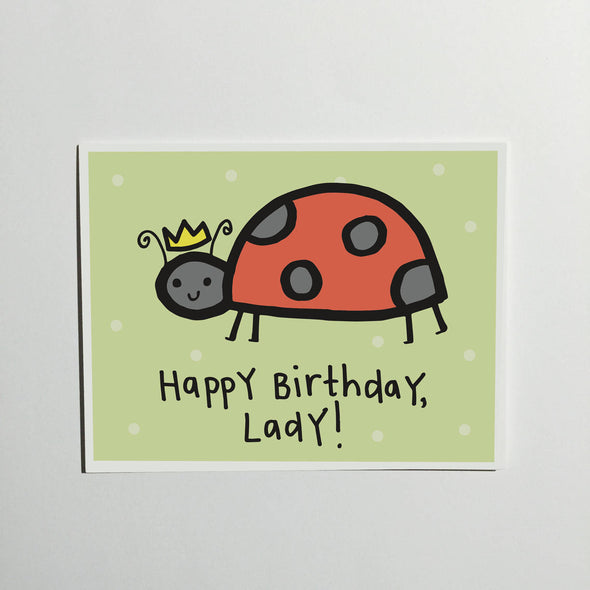Happy Birthday Lady Greeting Card