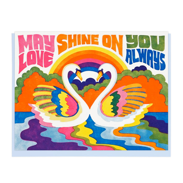 May Our Love Shine On Letterpress Greeting Card