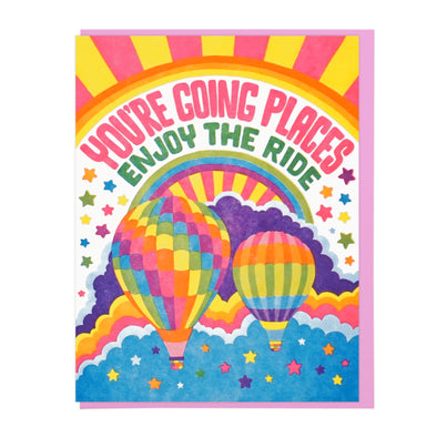You're Going Places Letterpress Greeting Card WATERBURY