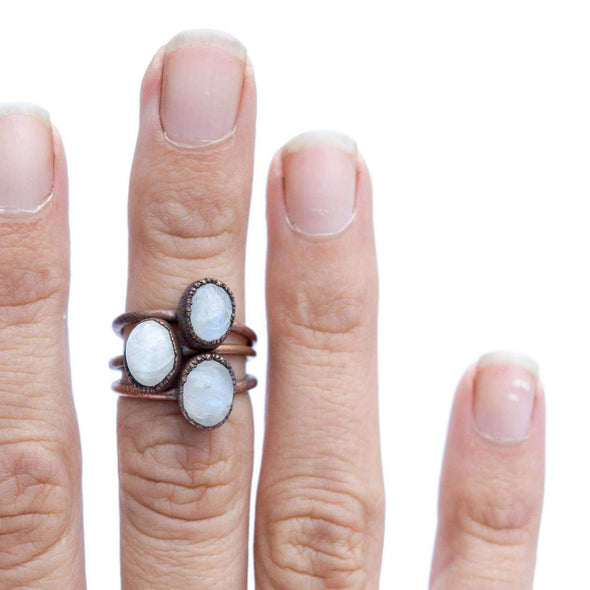 Oval Moonstone Ring*