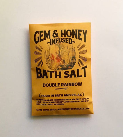 Double Rainbow Gem + Honey Infused Bath Salts
