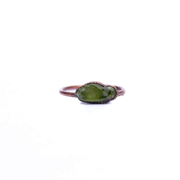 Raw Peridot Ring*