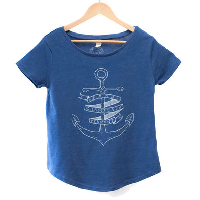 Anchor Women's T-Shirt Blue w/ White Print