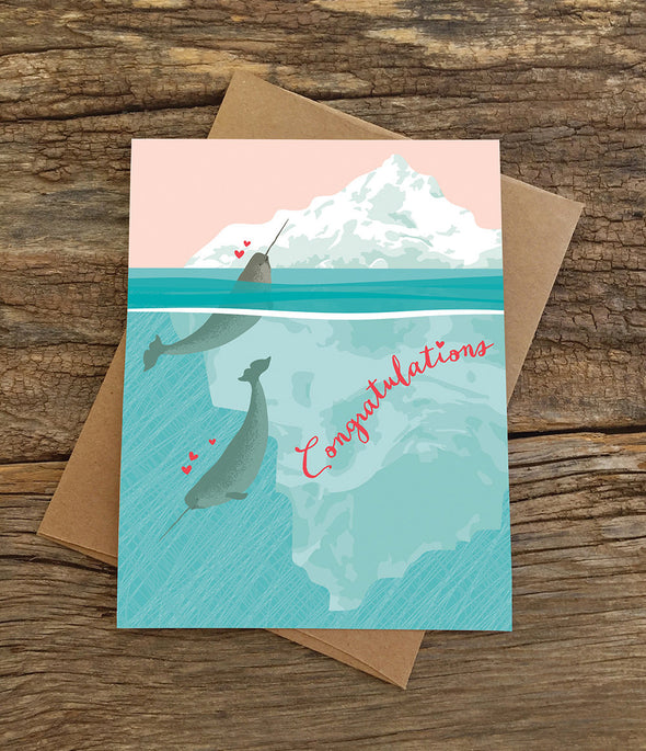 Narwhals Congratulations Wedding or Anniversary Card