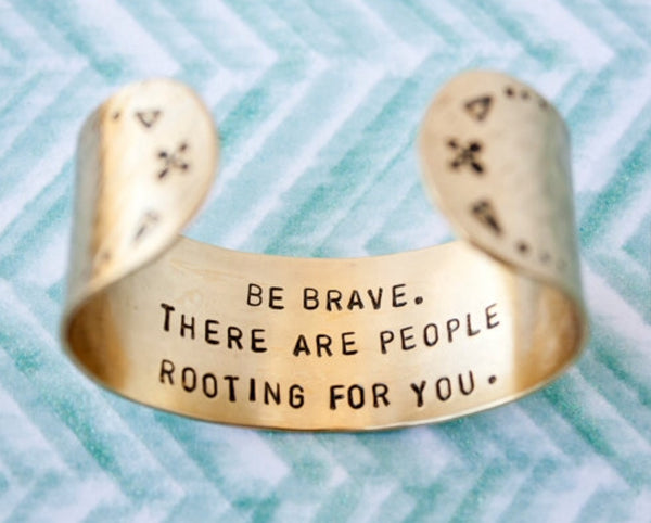 Be Brave Large Brass Cuff