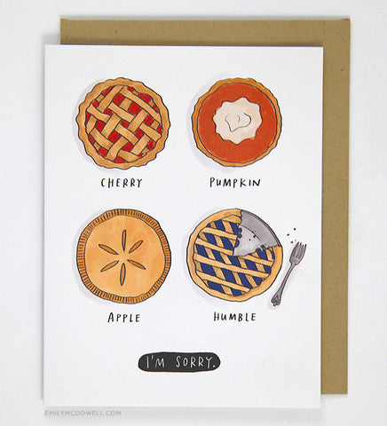Humble Pie I'm Sorry Greeting Card