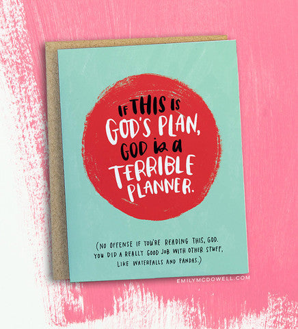 If This Is God's Plan Greeting Card