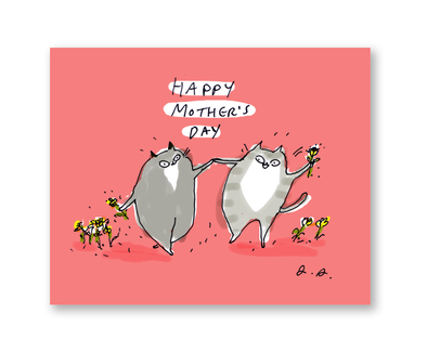 Happy Mothers Day Cats Card