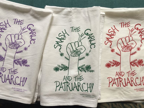 Tea Towel-Smash The Garlic And The Patriarchy