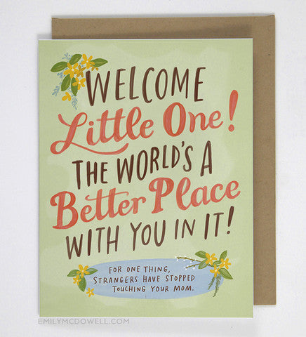 Welcome Home Little One! Greeting Card-Waterbury