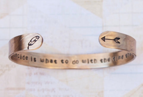 """All we have to decide is what to do with the time that is given to us"" // Brass Bracelet"