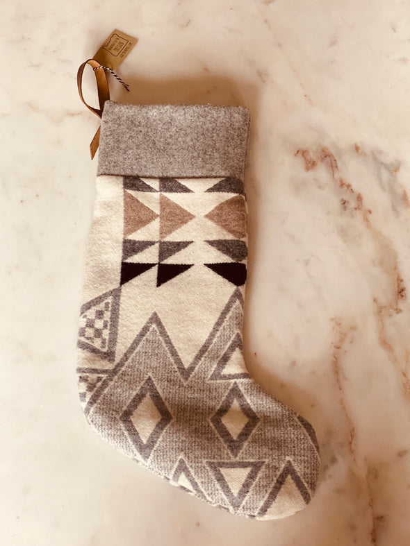 Handmade Christmas Stocking with Pendleton Wool Fabric
