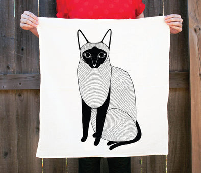 Siamese Cat Tea Towel