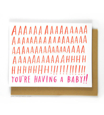 You're Having A Baby Greeting Card