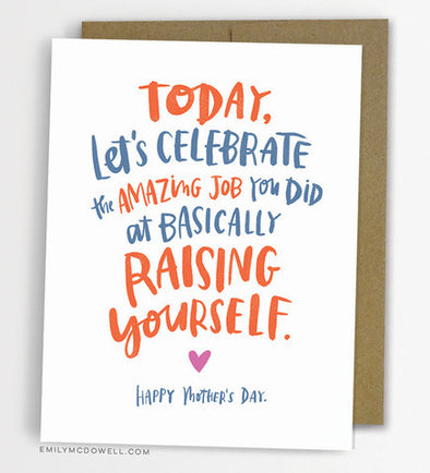 Raising Yourself Greeting Card