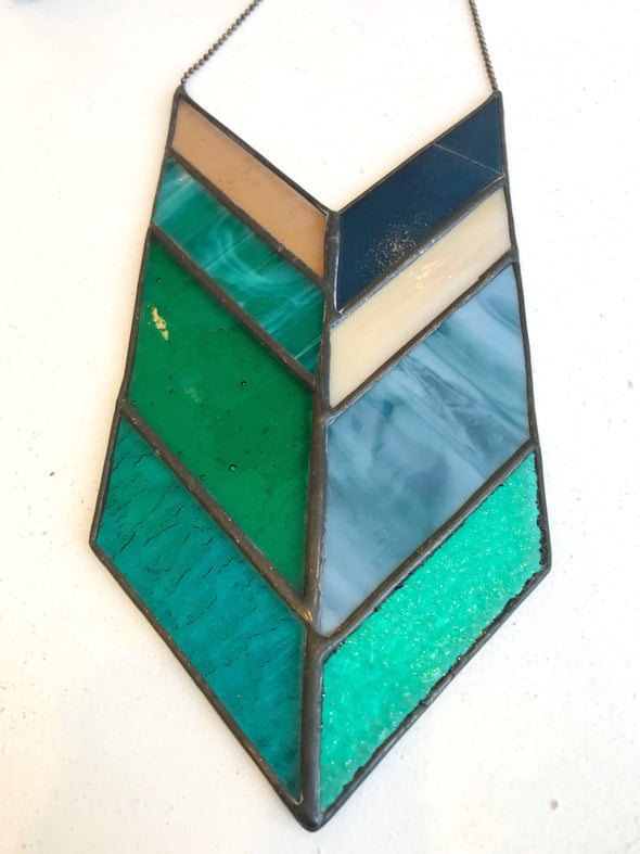 Stained Glass Chevron