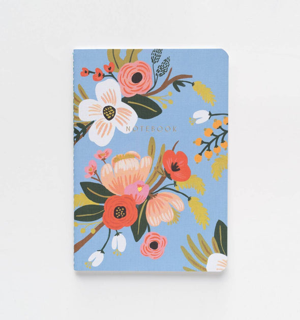 Lively Floral Set of 3 Notebooks