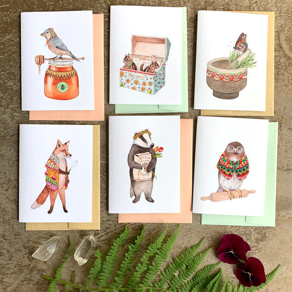 Woodland Kitchen - Greeting Card Pack