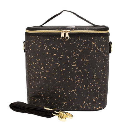Black and Gold Splatter Paper Lunch Poche