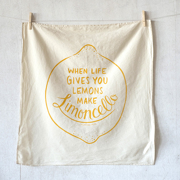 When Life Gives You Lemons Flour Sack Kitchen Towel