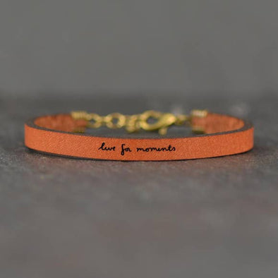 Live For Moments Leather Bracelet