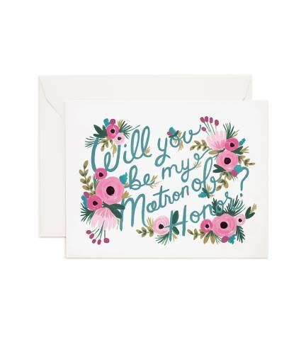 Be My Matron of Honor card