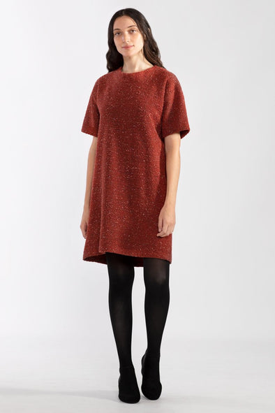 Pebble Knit Dress Ruby