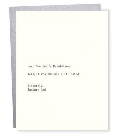 New Year's Resolution Card