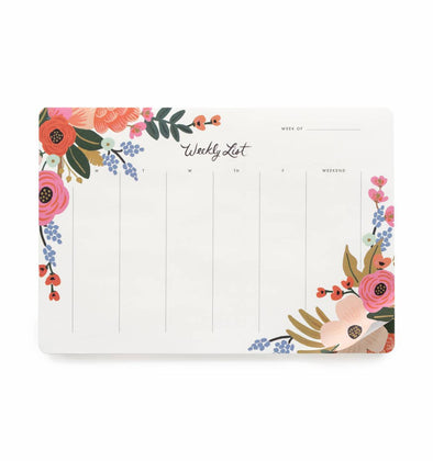 Lively Floral Weekly Desktop Notepad