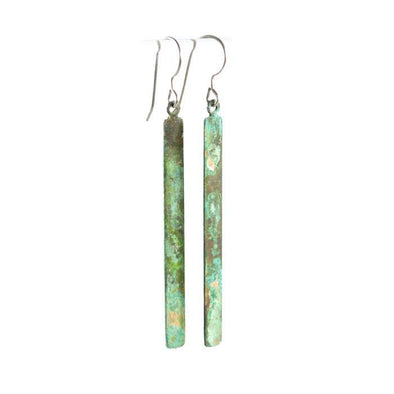 Patina Matchstick Dangle Earrings