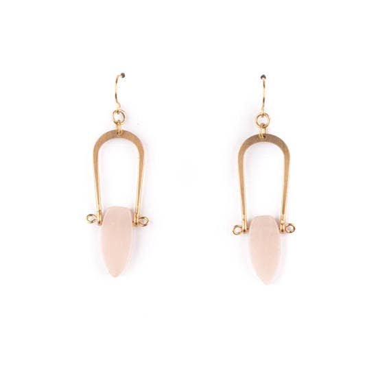 Peach Aventurine Amulet Earrings