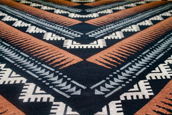 Phoenix Black/Cinnamon/Mushroom Throw