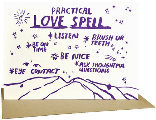 Practical Love Spell Greeting Card