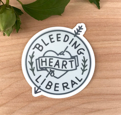 Bleeding Heart Liberal Sticker
