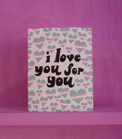 I Love You Trans - Greeting Card
