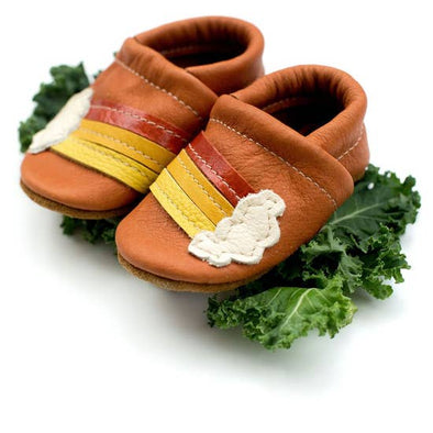 Moccs Rainbow Leather Baby Shoes