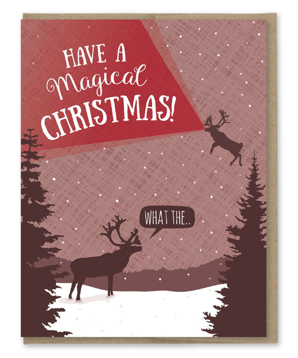 Magical Reindeer Christmas Card