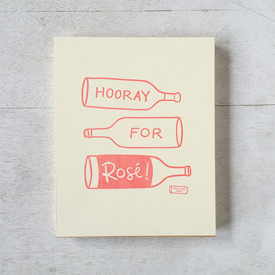Hooray For Rosé Letterpress 8x10 Print