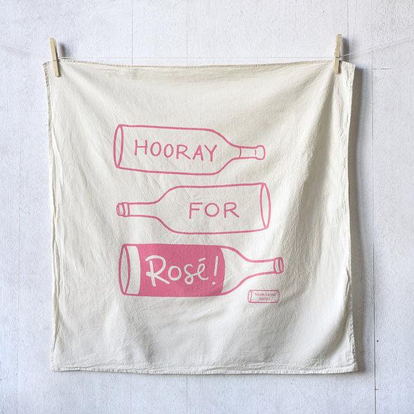 Hooray for Rosé flour sack kitchen towel