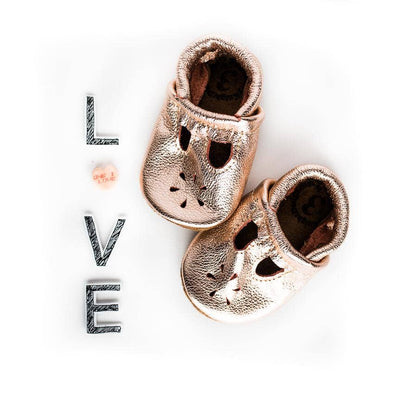 Rose Gold T Strap Shoes Baby And Toddler