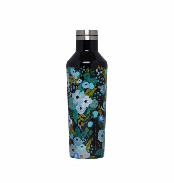 16 oz Canteen - Rifle Paper Co. Garden Party Blue