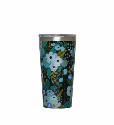 16 oz Tumbler - Rifle Paper Co. Garden Party Blue