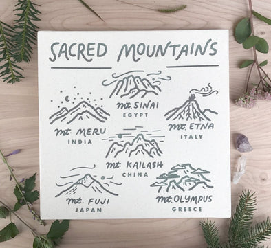 Sacred Mountains Canvas