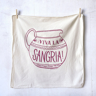 Viva La Sangria flour sack kitchen towel