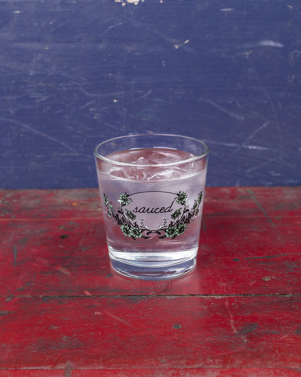 Sauced Double Old Fashioned Drinking Glass