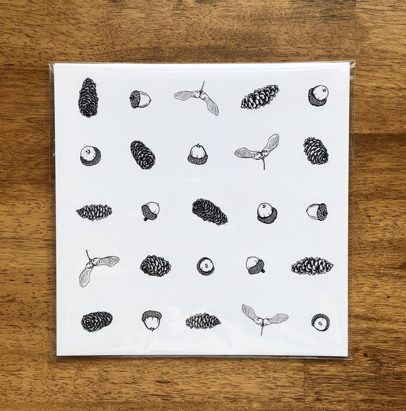 "Tree Seeds 8"" x 8"" Art Print"