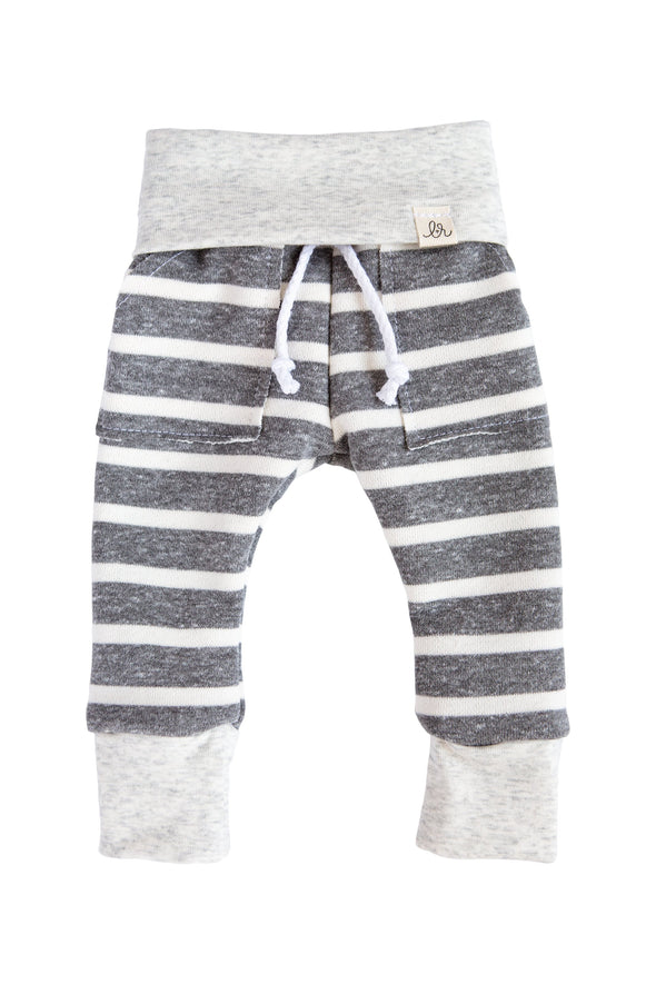 Chunky Grey Stripe Sweats - WATERBURY