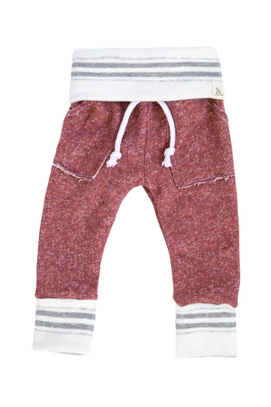 Mauve and Stone Stripe Sweatpants Kids / Baby