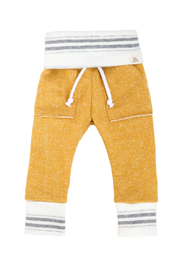 Mustard Chunky Stripe Sweatpants