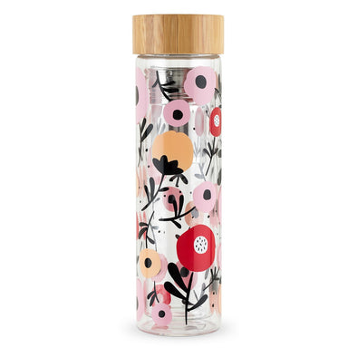 Floral Posy Glass Infuser Travel Mug